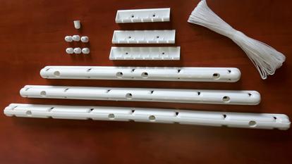 Obrázek ALDOTRADE Stropní sušák na prádlo IDEAL 5 tyčí - držák s 5 zářezy