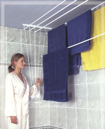 Obrázek ALDOTRADE Stropní sušák na prádlo Ideal 5 tyčí 120 cm