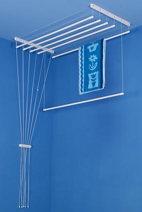 Obrázek ALDOTRADE Stropní sušák na prádlo Ideal 6 tyčí 140 cm - Bílá