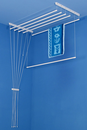 Obrázek ALDOTRADE Stropní sušák na prádlo Ideal 6 tyčí 150 cm - Bílá