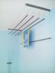 Obrázek z ALDOTRADE Stropní sušák na prádlo Ideal 6 tyčí 180 cm - Bílá