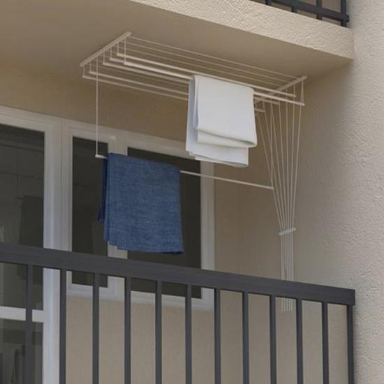 Obrázek z ALDOTRADE Stropní sušák na prádlo Ideal 7 tyčí 140 cm