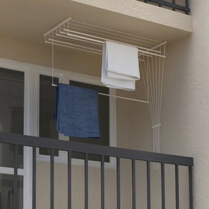 Obrázek ALDOTRADE Stropní sušák na prádlo Ideal 7 tyčí 150 cm